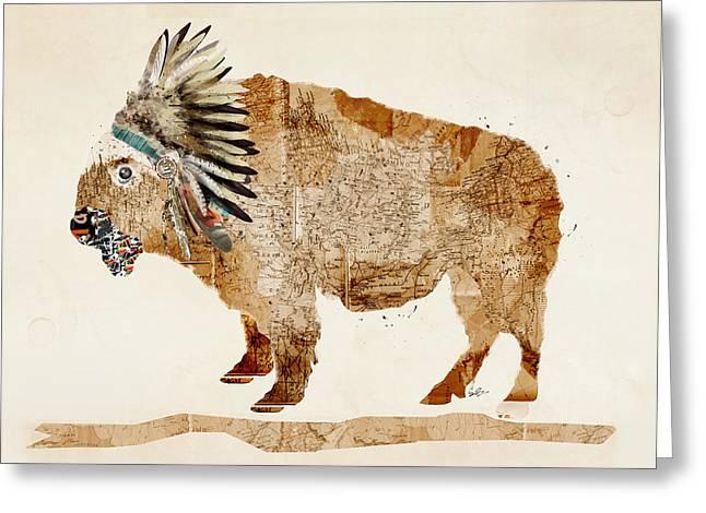 The Buffalo Greeting Card by Bri B