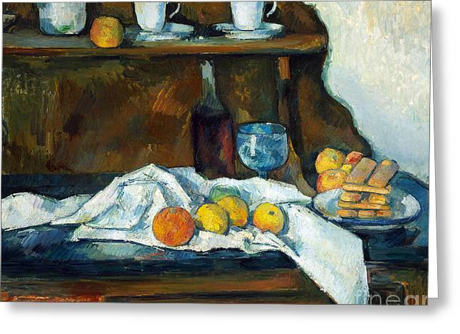The Buffet Greeting Card by Cezanne