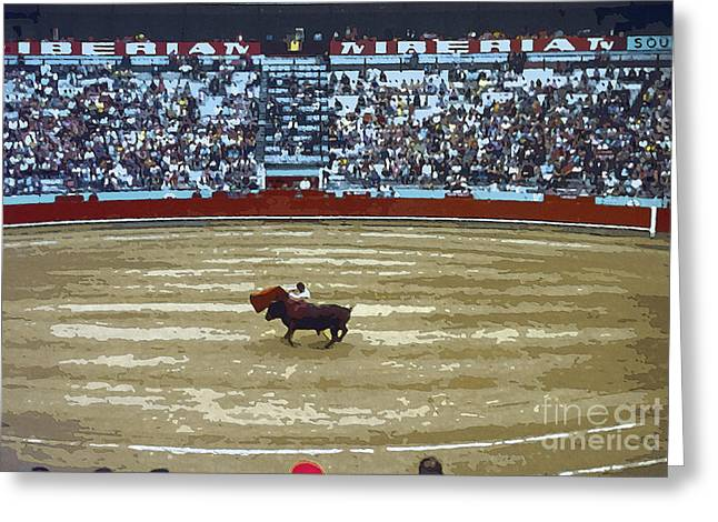 Person Greeting Cards - The Bull and The Matador 4 Greeting Card by Bob Phillips