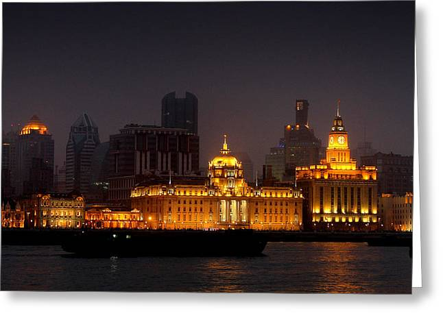 Southeast Asia Greeting Cards - The Bund - More than Shanghais most beautiful landmark Greeting Card by Christine Till