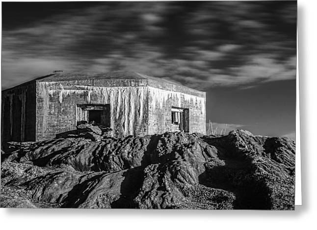 German Ocean Greeting Cards - The Bunker Greeting Card by Erik Brede