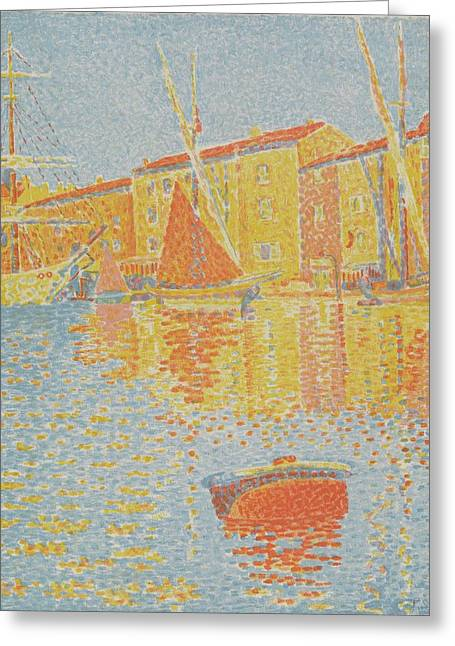 The Buoy Greeting Card by Paul Signac