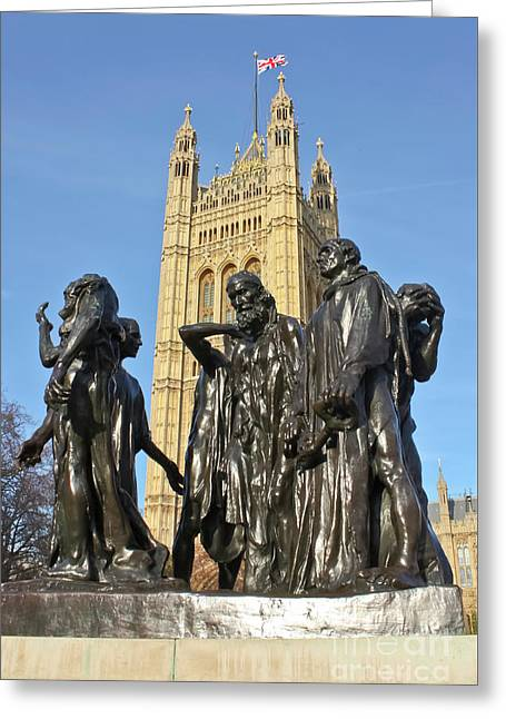 The Burghers Of Calais London Greeting Card by Terri Waters