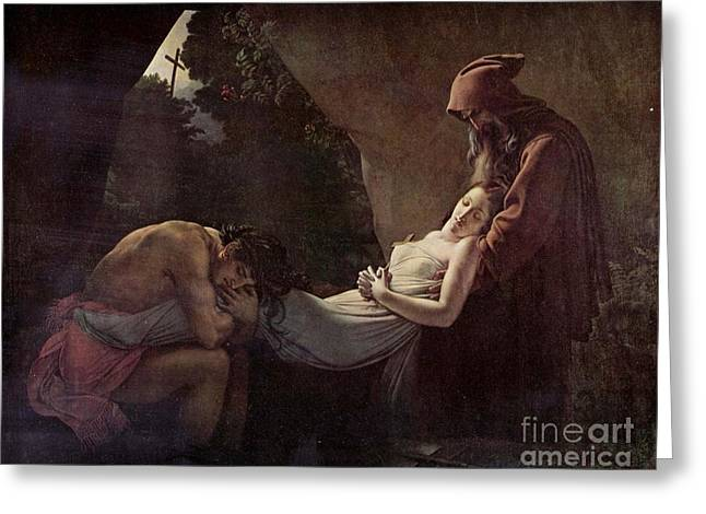 Girodet Greeting Cards - The Burial of Atala Greeting Card by MotionAge Designs