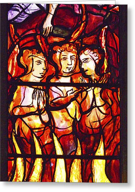 Parable Greeting Cards - The Burning Fiery Furnace. Greeting Card by Stan Pritchard