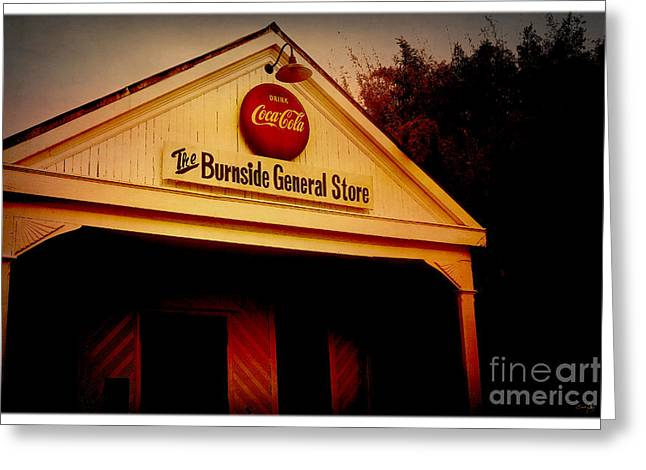 General Burnside Greeting Cards - The Burnside General Store Greeting Card by Scott Pellegrin