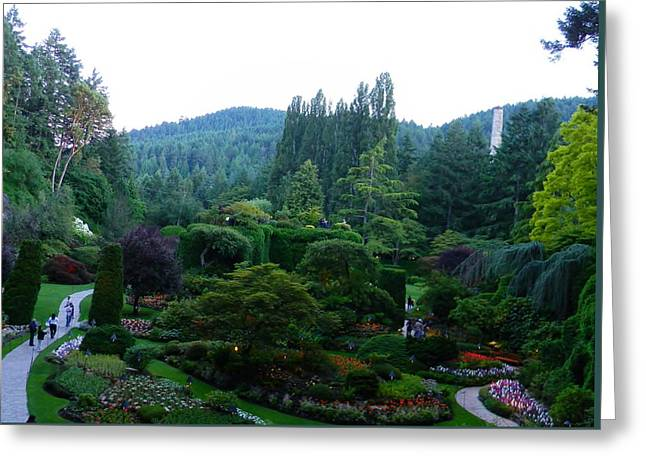 The Hills Greeting Cards - The Butchart Gardens Greeting Card by Warren Thompson