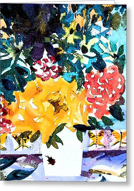 Pussy Greeting Cards - The Butterfly Bouquet Greeting Card by Mindy Newman