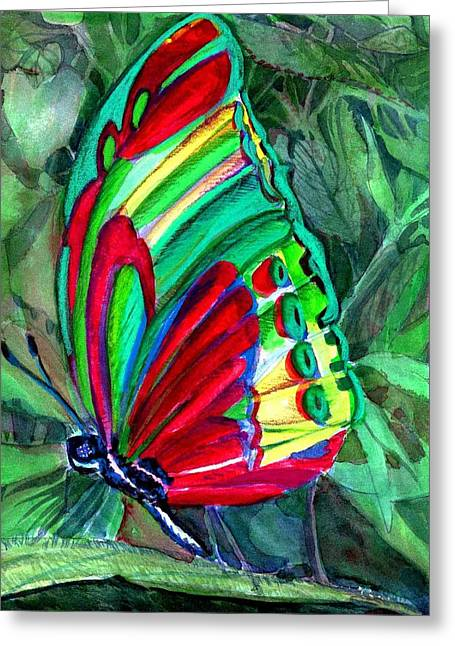 Winged Pastels Greeting Cards - The butterfly Greeting Card by Mindy Newman