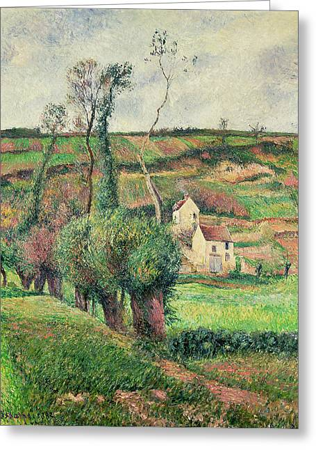The Cabbage Slopes Greeting Card by Camille Pissarro
