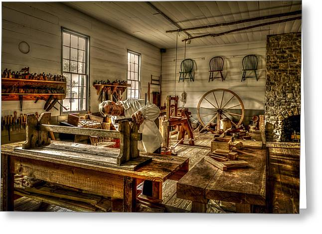 Huntsville Greeting Cards - The Cabinetmaker Greeting Card by David Morefield
