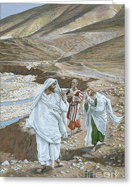 Lord Paintings Greeting Cards - The Calling of St. Andrew and St. John Greeting Card by Tissot