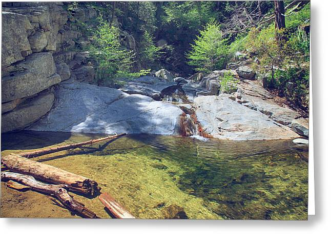 Heart Rocks Greeting Cards - The Calming Waters Greeting Card by Laurie Search