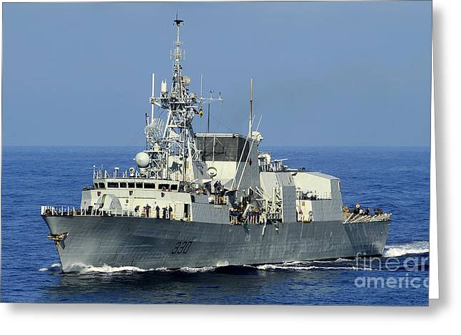 Halifax Greeting Cards - The Canadian Patrol Frigate Hmcs Greeting Card by Stocktrek Images