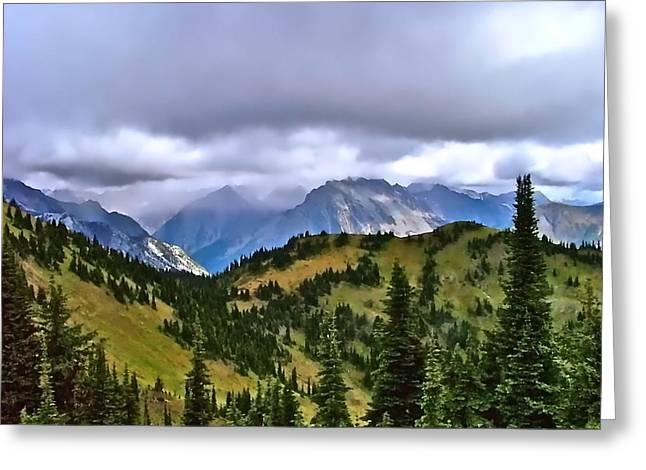 The Canadian Rockies Greeting Card by Brent Sisson