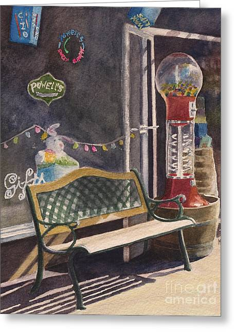 Candy Paintings Greeting Cards - The Candy Shop Greeting Card by Karen Fleschler