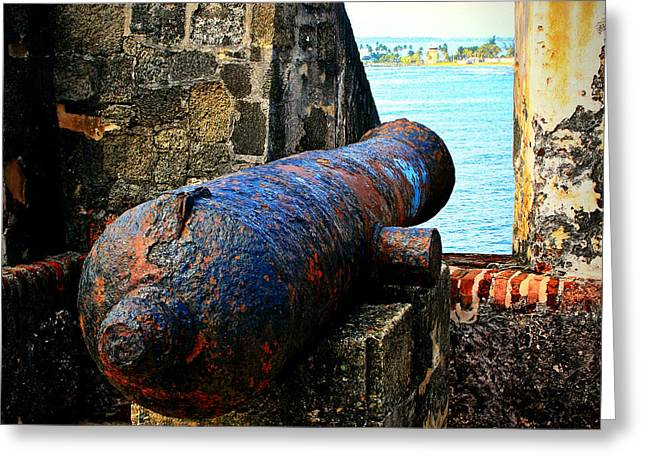 Puerto Rico Greeting Cards - The Cannon  Greeting Card by Perry Webster