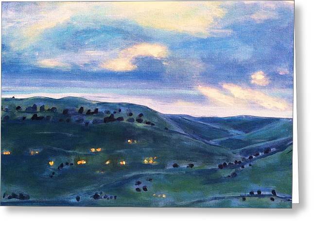 Horsetooth Reservoir Greeting Cards - The Canyon Leading to Horsetooth Greeting Card by Maureen Carrigan