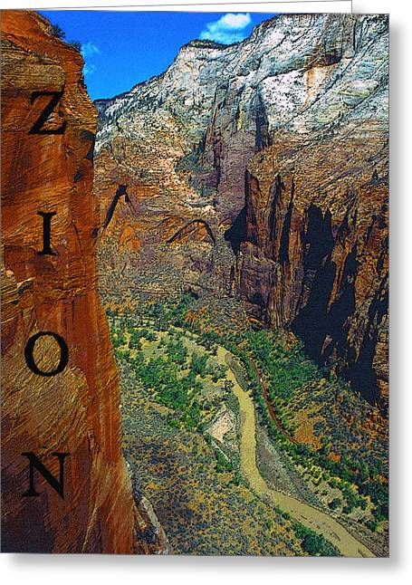 Rocky Mountain National Park Posters Greeting Cards - The Canyon of Zion Greeting Card by David Lee Thompson