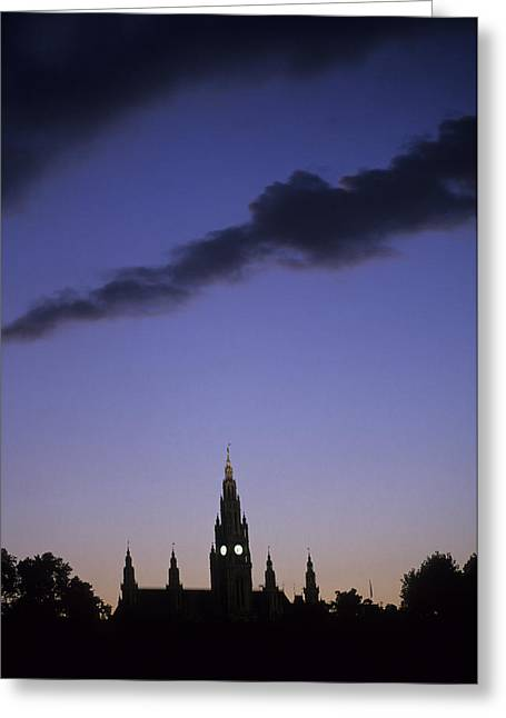Eu Greeting Cards - The Capitol Buildings Silhouetted Greeting Card by Taylor S. Kennedy