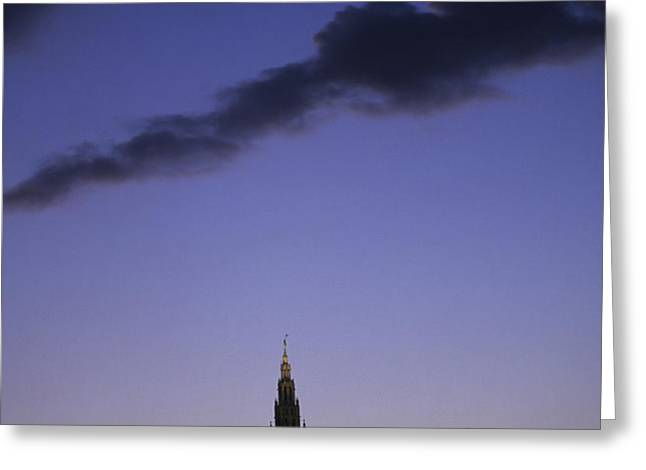 The Capitol Buildings Silhouetted Greeting Card by Taylor S. Kennedy