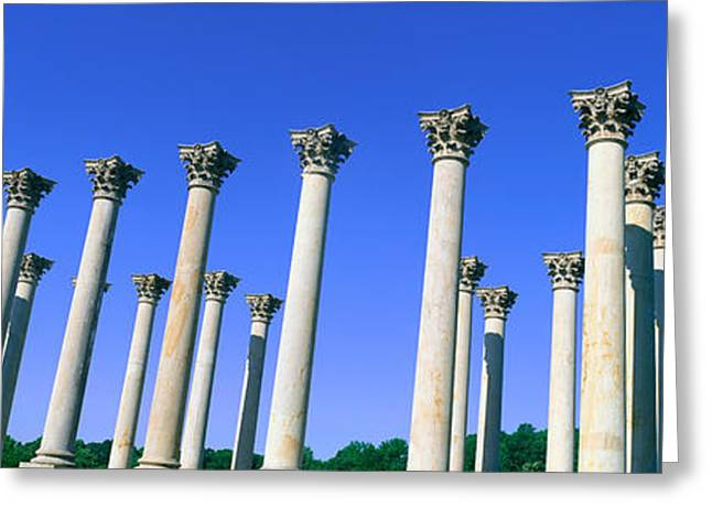The Capitol Columns Of The United Greeting Card by Panoramic Images