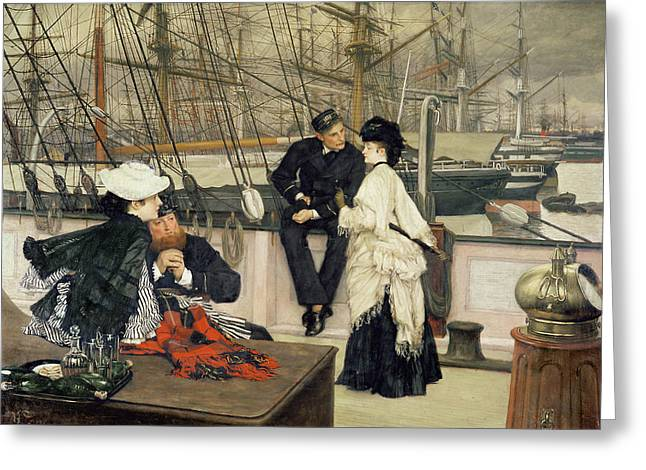 Bateau Greeting Cards - The Captain and the Mate Greeting Card by Tissot