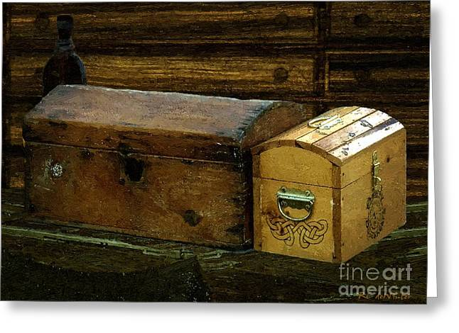 The Captain's Cabin Greeting Card by RC DeWinter
