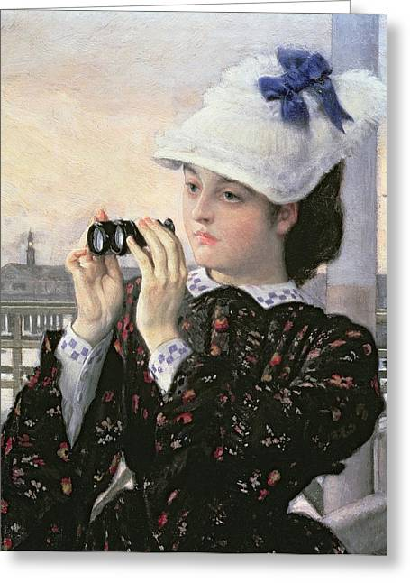 Recently Sold -  - Surveying Greeting Cards - The Captains Daughter Greeting Card by Tissot