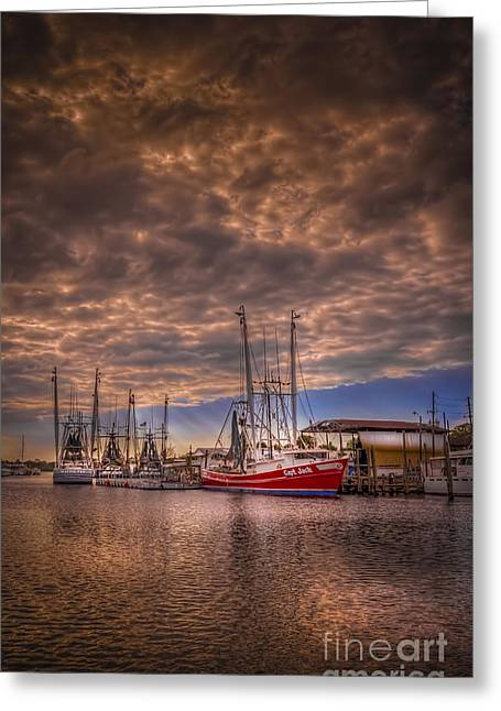 Shrimp Boat Captains Greeting Cards - The Captain Jack Greeting Card by Marvin Spates