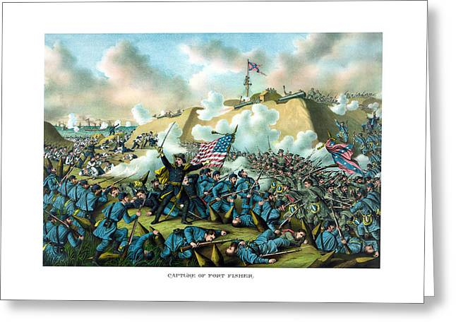 Battle Greeting Cards - The Capture of Fort Fisher Greeting Card by War Is Hell Store