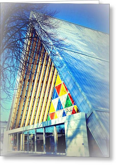Cardboard Greeting Cards - The Cardboard Cathedral Greeting Card by Toni Abdnour