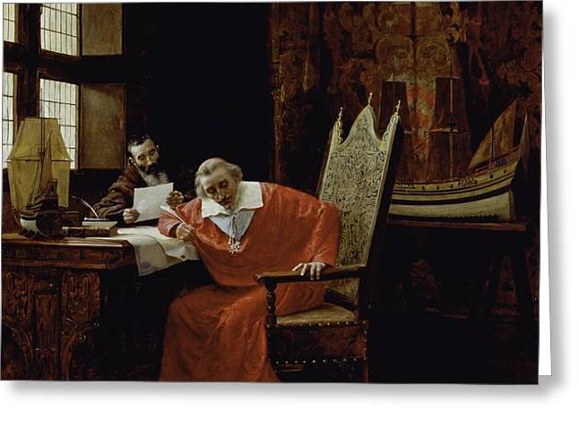 The Cardinal's Leisure  Greeting Card by Charles Edouard Delort
