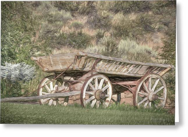 The Cart Before The Horse Greeting Card by Donna Kennedy