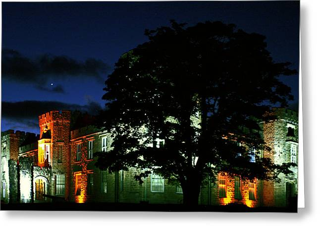 The Castle At Night Greeting Card by Joy Powell