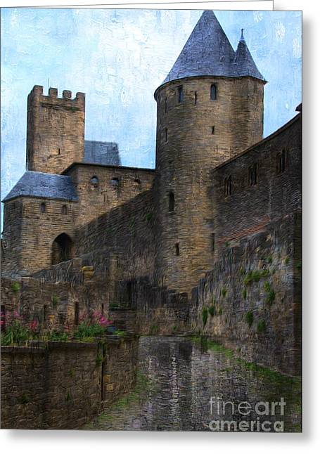 Languedoc Digital Greeting Cards - The Castle Greeting Card by Daniela White