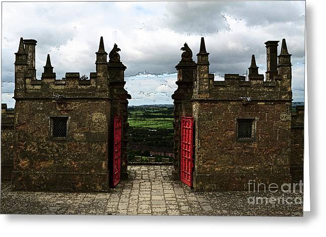 The Castle Gates Greeting Card by Louise Heusinkveld