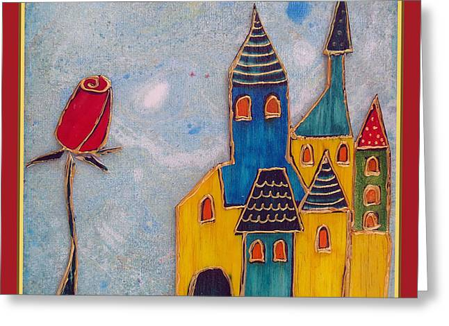 Eternal Life Mixed Media Greeting Cards - The castle lives Greeting Card by Aqualia