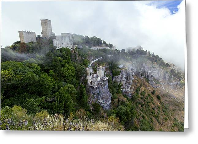Erice Greeting Cards - The Castle of Venus Erice Sicily Greeting Card by Stuart Johnson