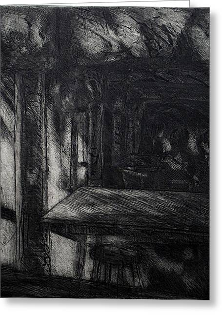 Pull Drawings Greeting Cards - The Catacombs Greeting Card by Richard Wetterer