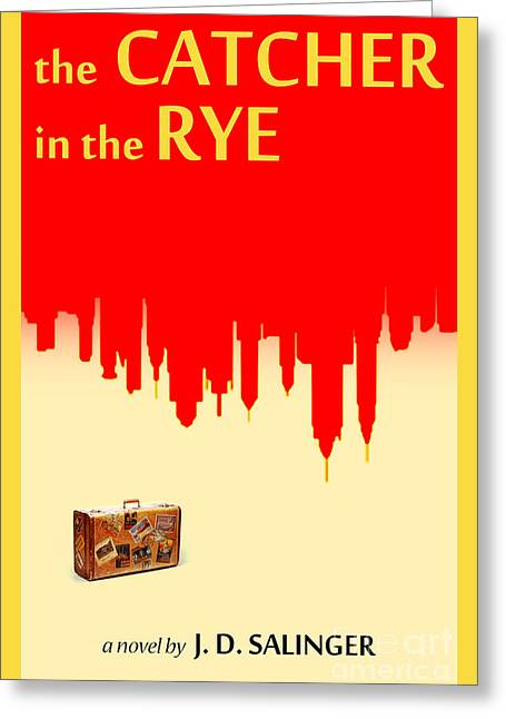 The Catcher In The Rye Book Cover Movie Poster Art 1 Greeting Card by Nishanth Gopinathan