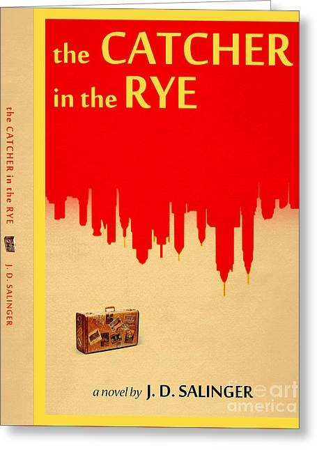 The Catcher In The Rye Book Cover Movie Poster Art 4 Greeting Card by Nishanth Gopinathan