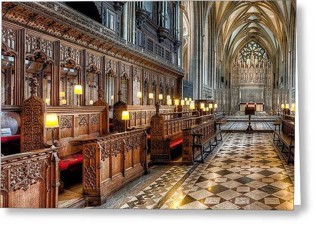 Grade 1 Greeting Cards - The Cathedral  Greeting Card by Adrian Evans