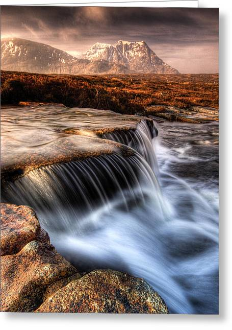 Rannoch Moor Greeting Cards - The Cauldron Glencoe Greeting Card by David Mould
