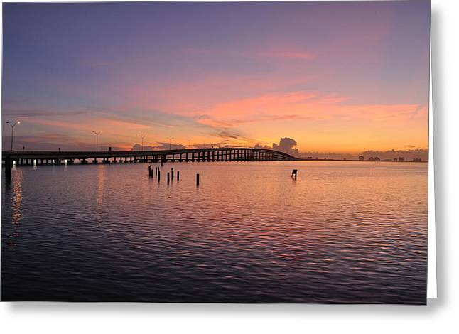 Padres Greeting Cards - The Causeway in Violet Greeting Card by Matias Alvarado