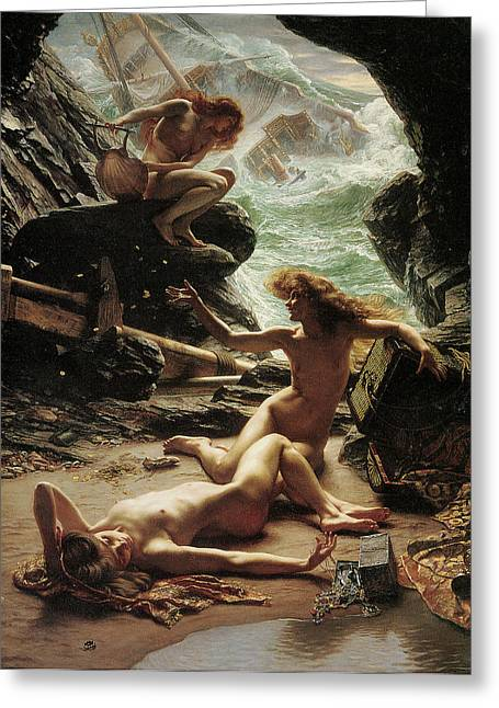 Poynter Greeting Cards - The Cave of the Storm Nymphs Greeting Card by Edward Poynter
