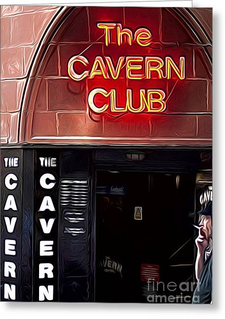 The Cavern Club Greeting Card by Andrew Michael