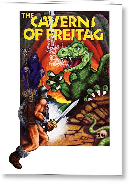 Cavern Paintings Greeting Cards - The Caverns of Freitag Greeting Card by John D Benson