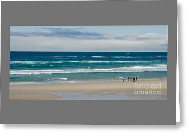 Panoramic Ocean Greeting Cards - The Central Oregon Coast Greeting Card by Nick  Boren