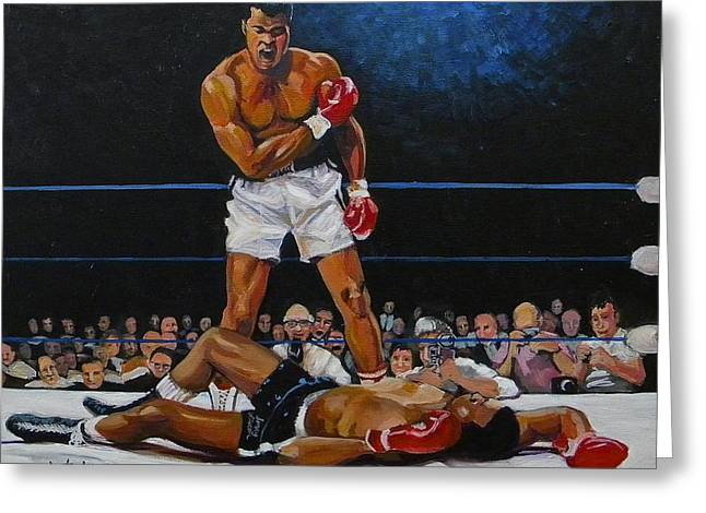 Mohammed Ali Greeting Cards - The Champ Greeting Card by Jeanette Jarmon